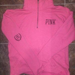 Pink VS Pink Crew 1/4 ZIP